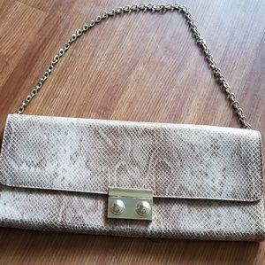 Faux snake skin clutch purse